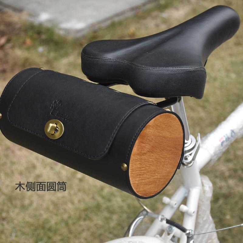 G124, bolsa de bicicleta de cola electromecánica, bolsa de bicicleta de montaña, bicicleta de carretera, retro, bolsa de cuero de PU, bolsa de cola de silla de Tipo de carril