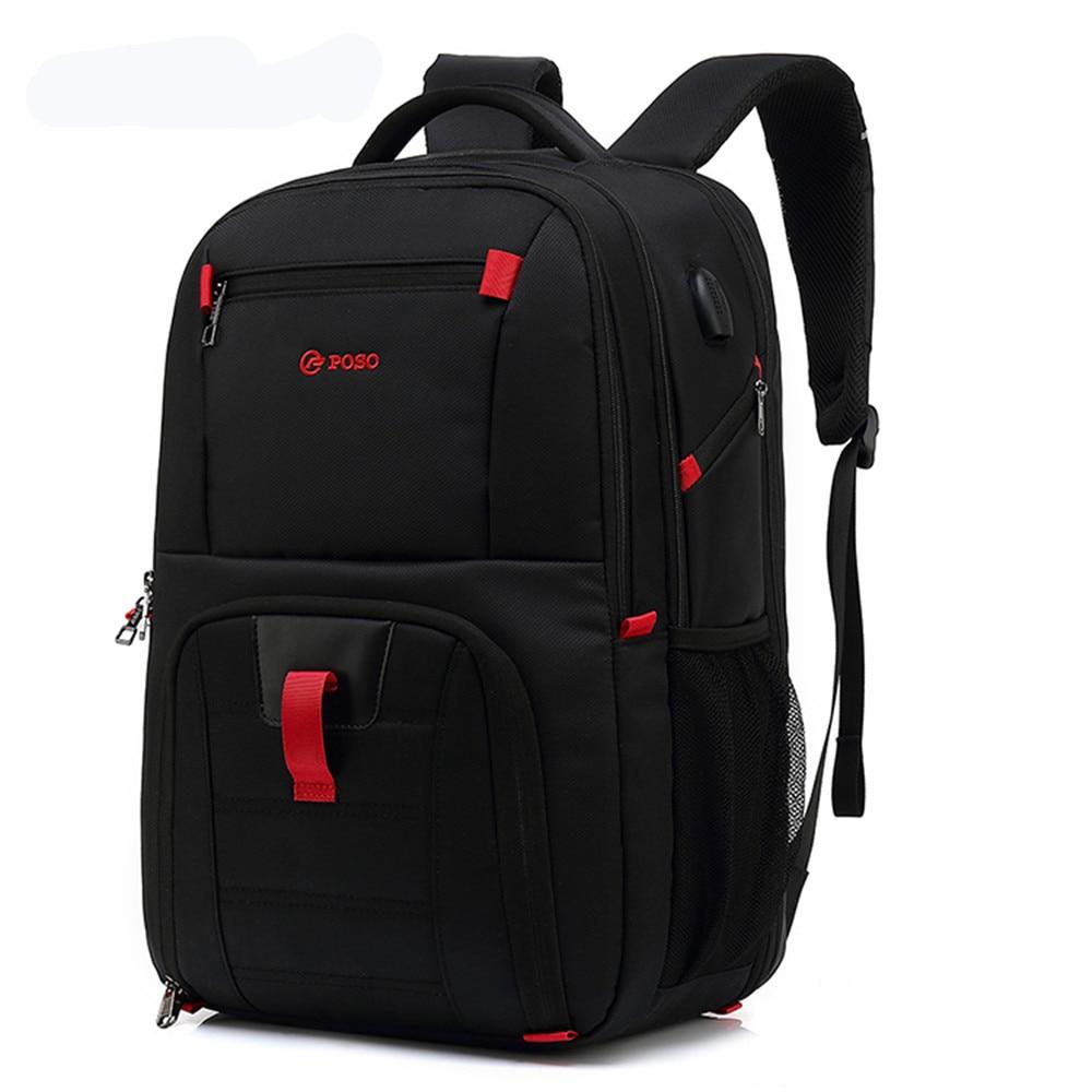 POSO Backpack 17.3inch Laptop Backpack Fashion Travel Business Backpack Nylon Waterproof Backpack Anti-theft  Men Backpack anti theft backpack harry styles print 2020 new men s laptop backpack men s travel backpack business backpack