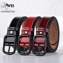 DWTS New women's belt female genuine leather belts for women strap casual All-match ladies adjustabl