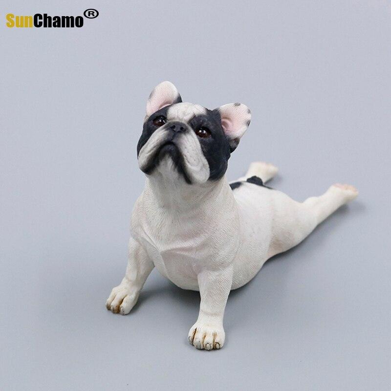 Decoração do Carro Novo Francês Bulldog Simulação Modelo Gado Ornamentos Carro Produtos Casa Artesanato Cão