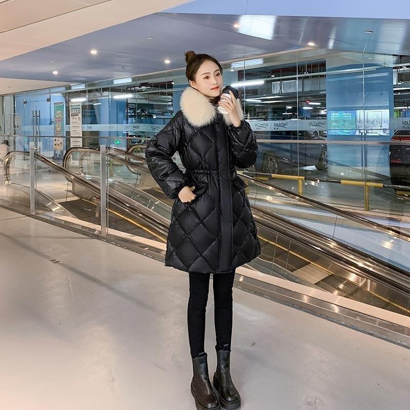 معاطف نسائية شتوية 2021 سميكة بياقة من الفرو الصناعي معاطف مبطنة بالقطن سترات فضفاضة للنساء ملابس خارجية Casaco Feminino X637
