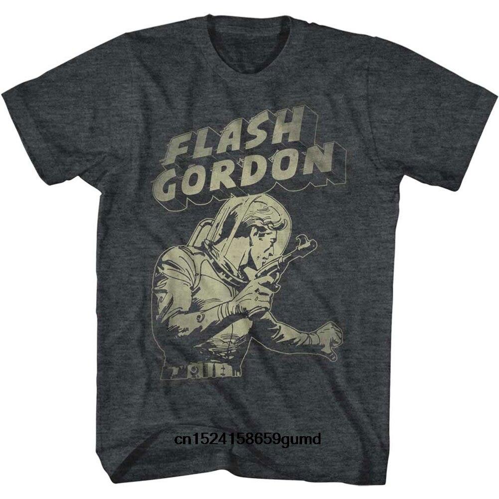 Divertida camiseta para hombre nueva camiseta de manga corta para mujer Flash Gordon Flash Aaaaaaa camiseta