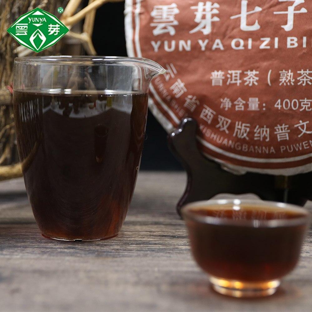 شاي الكعك الصيني Pu-erh Yunya Qizi ، 2014 جرام ، رعاية صحية ، ممتاز ، 400