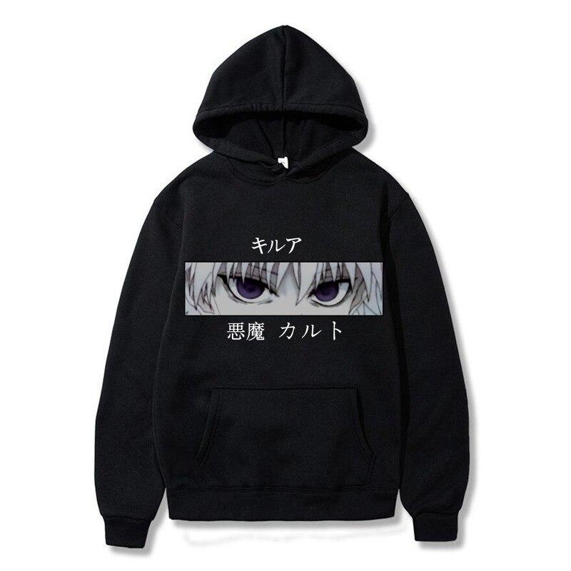 Japanese Anime Hunter X Hunter Killua Leorio Kurapika Gon Hisoka Pullover Hoodie Streetswear Tops Fashion Hoodie Women/men