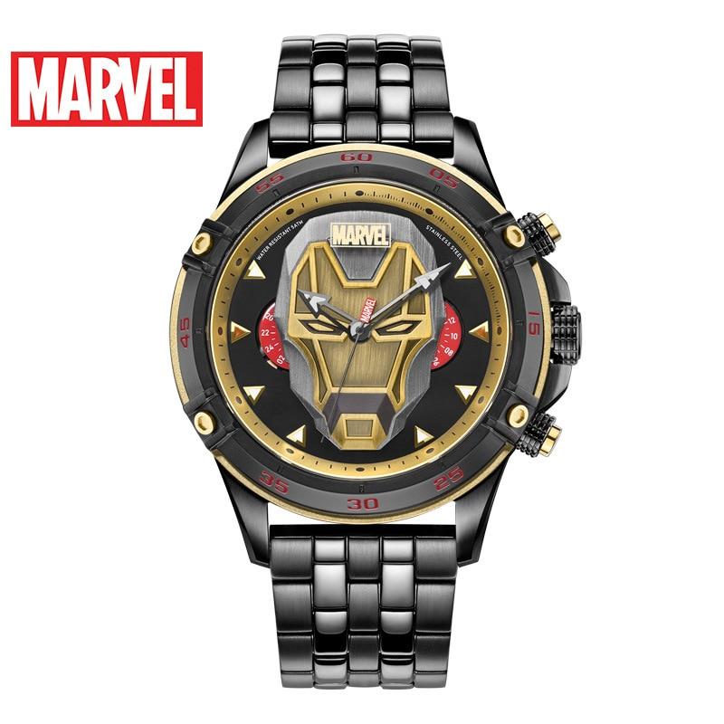 Disney Marvel Fashion Casual Multifunctional Men's Watch Men's Watch Iron Man Men's Waterproof Quartz Watch