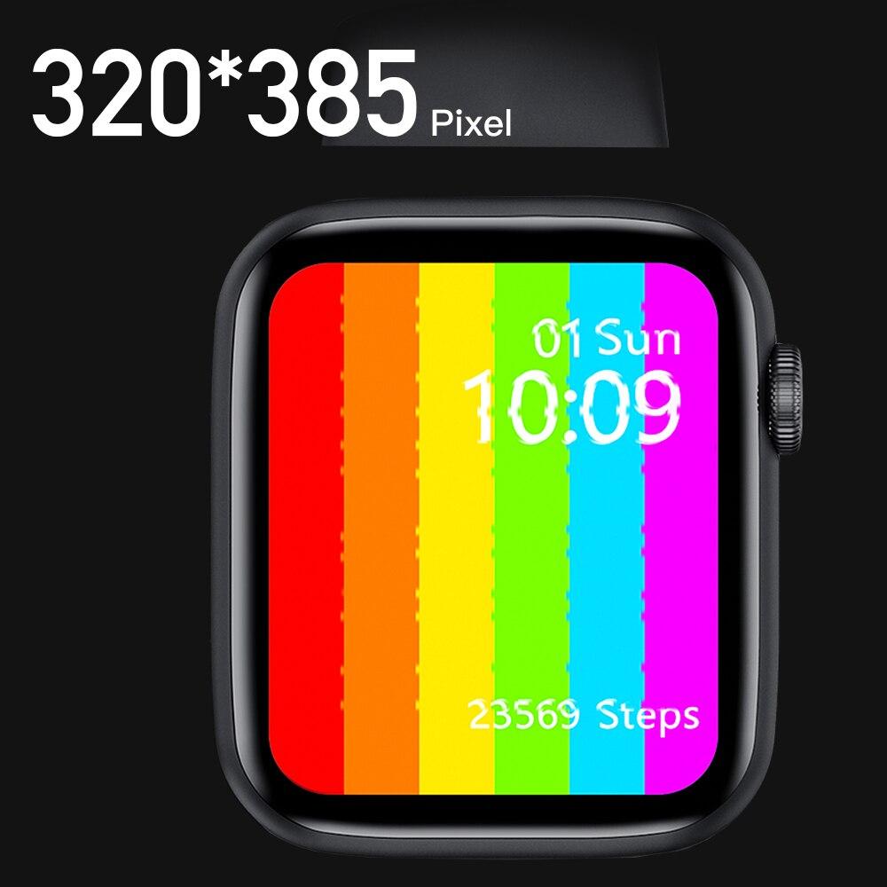 Par de relojes IWO W26 reloj inteligente de serie 6 con recordatorio de mensaje de llamada iwo 12 Pro Smartwatch W26 relojes inteligentes IWO para Android IOS