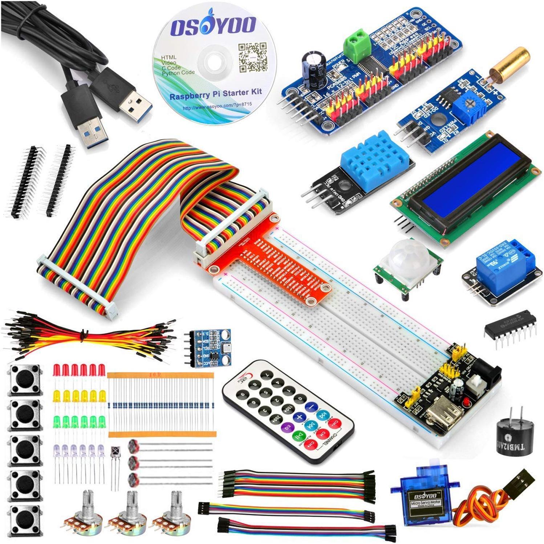 Raspberry Pi 3 Starter Kit DIY Электронный RPi Обучающий набор для начинающих дисплей pca9685 с C/Python кодом и видео-учебник