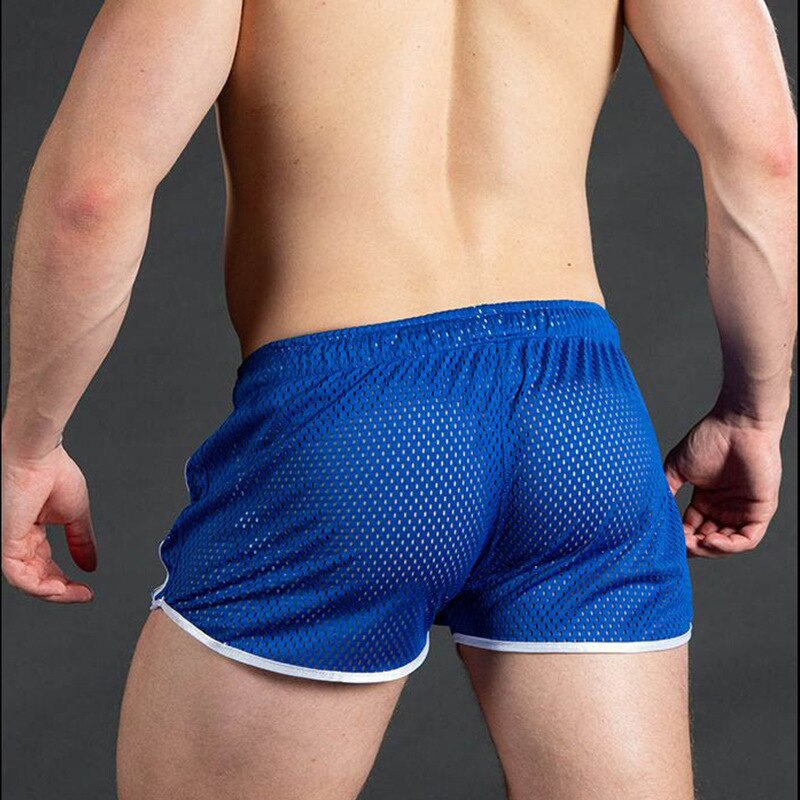 Pantalones cortos deportivos para Hombre, secado rápido, transpirables, sexys, para entrenamiento De Fitness en la playa, informales, De tres puntos, 2021