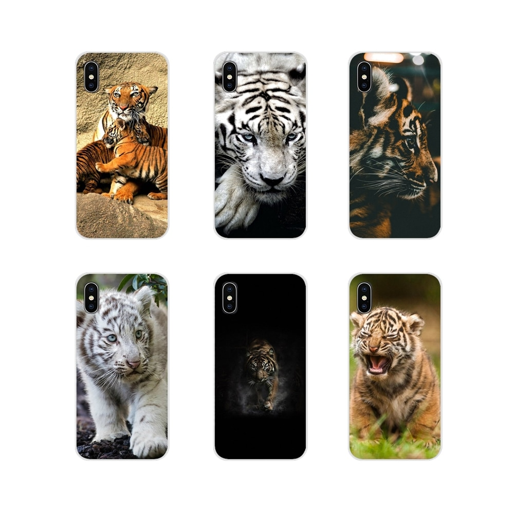 Animal cachorro de tigre para Samsung Galaxy S2 S3 S4 S5 Mini S6 S7 borde S8 S9 S10E Lite accesorios de la cáscara del teléfono cubre