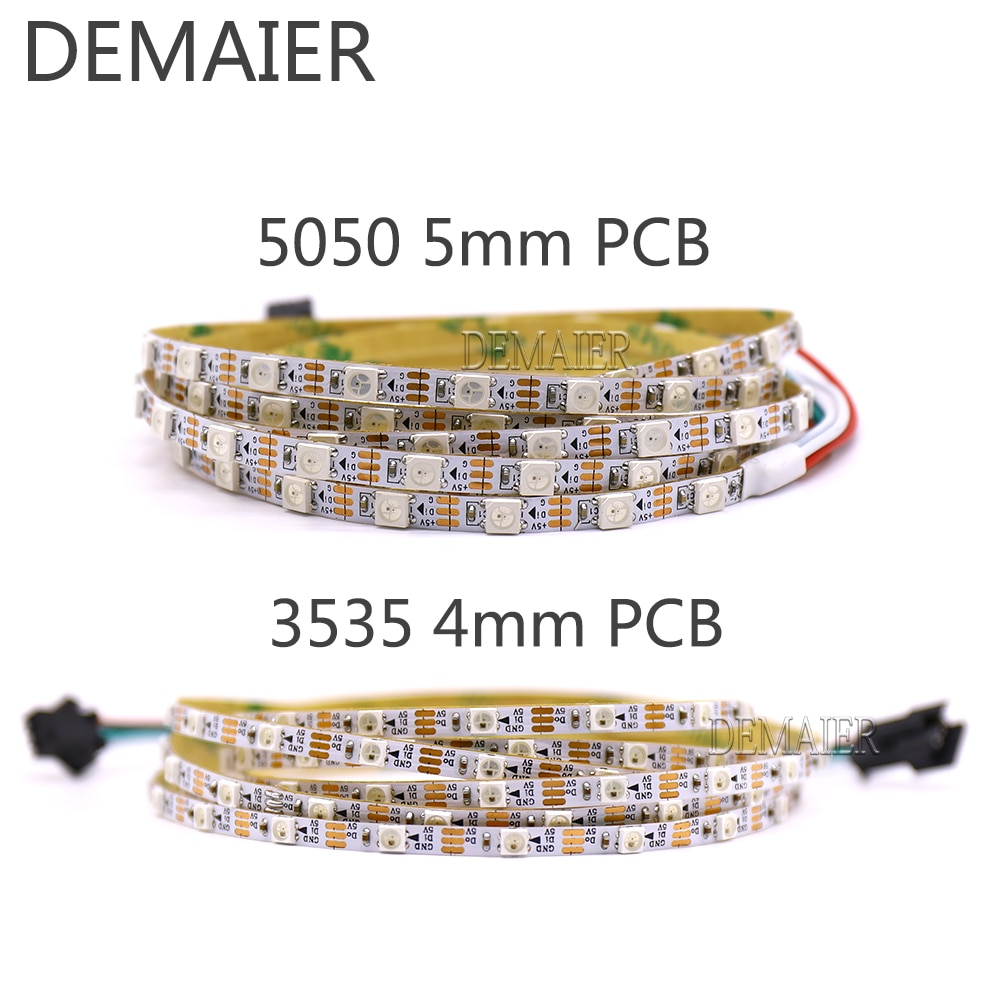 SK6812 WS2812B MINI 3535 SMD 5050 RGB pixel led streifen 60/144 4mm/5mm/7,2mm PCB smd3535/5050 Einzeln Adressierb dc5v