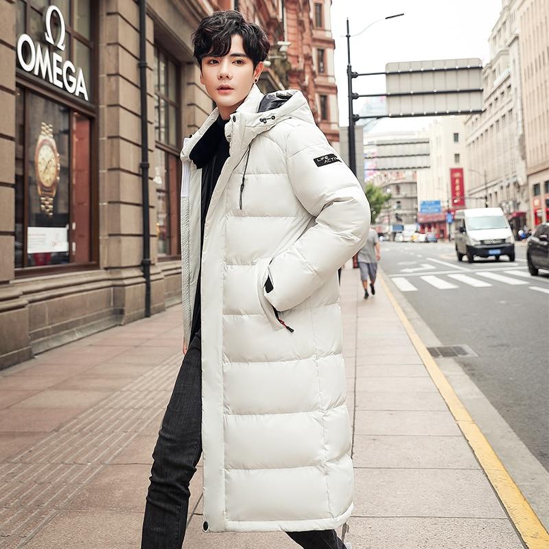 Couples Men's Winter Jacket Down Coats Men White Duck Down jacket Male Slim Fit Warm Parka High Quality Long Coat