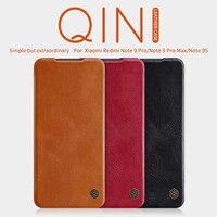 For xiaomi redmi note 9 pro wallet case Mi note 10 Lite Flip case Nillkin Qin PU leather back cover for Note 8 mi 10X POCO X3