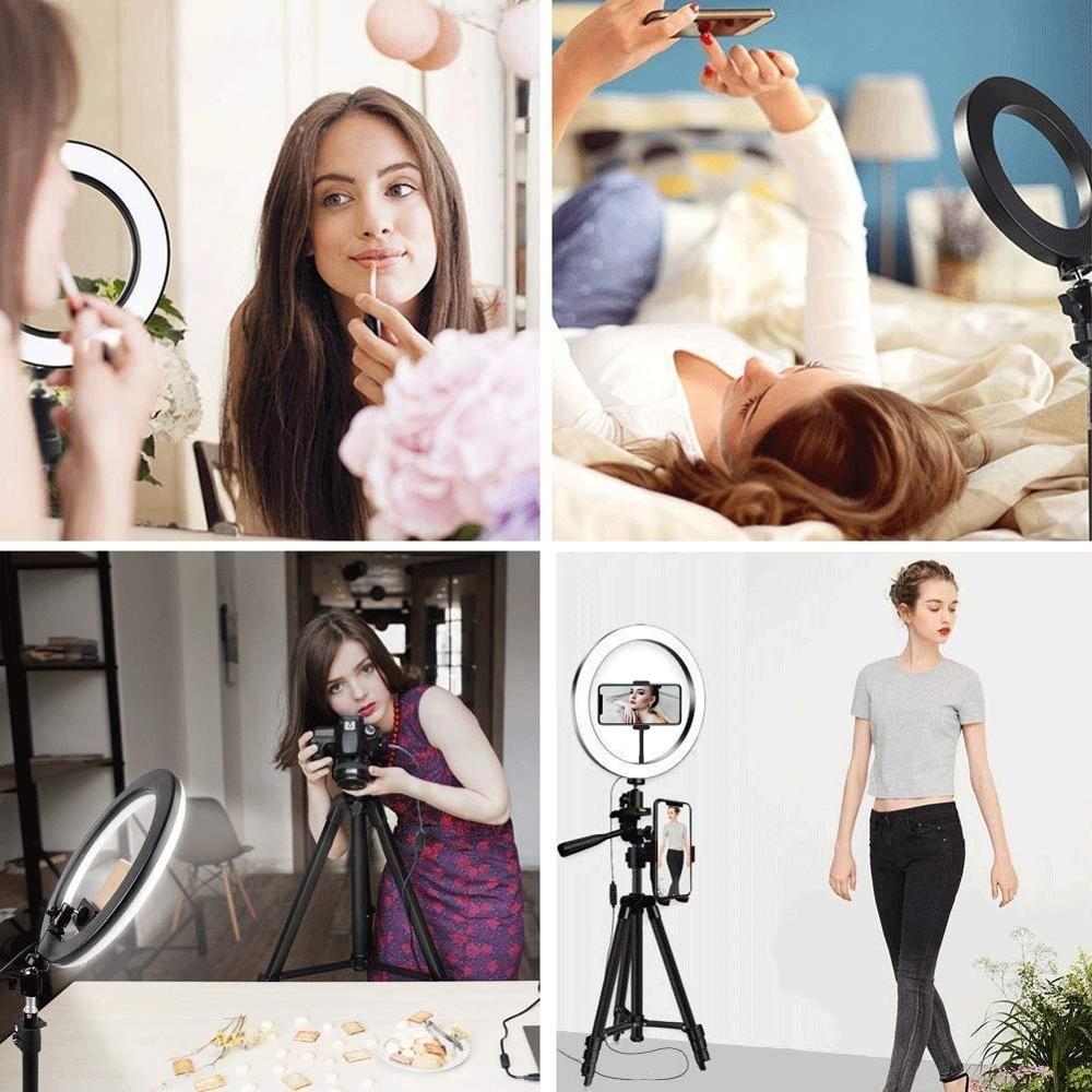 Selfie Ring Lamp Led Ring Light Selfie With Tripod Ring For Selfie Phone Video Photography Lighting For Youtube Phone Holder