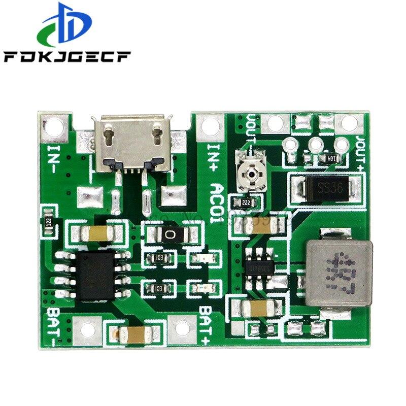 Литиевая литий-ионная батарея 18650 3,7 В 4,2 В 9 в 5 в 2 А, плата зарядного устройства, Регулируемый Модуль повышения мощности с регулировкой, с рег...