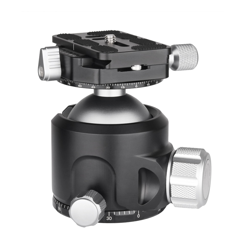 V52/V44/V36 Tripod Ballhead of Low Gravity Center Double Panoramic Ball Head with Quick Release Plate for Digital DSLR Camera enlarge