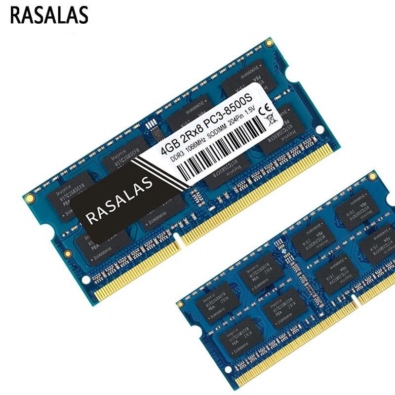RASALAS 1,5 V 1,35 Memoria RAM DDR3 DDR3L 8G 4G 2G portátil...