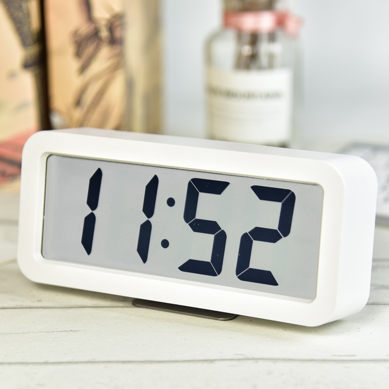 Led inteligente despertador digital música moderno alto silencioso snooze despertador bateria magro reloj despertador luzes da noite ae50ac