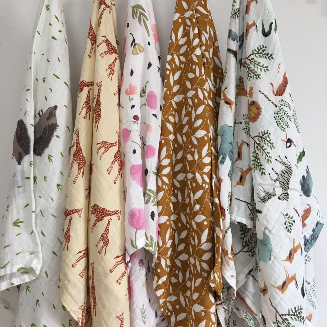 120X110cm Muslin Swaddle Blanket Baby Blankets Newborn Cotton Gauze Blanket Swaddling Blanket Muslin Diaper