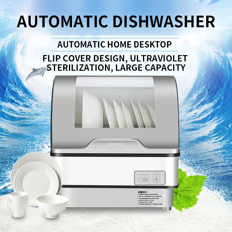 Household small dishwasher automatic disinfection dryer desktop free installation dishwasher factory direct sales