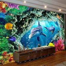 Underwater World Cartoon Theme Park Children Swimming Pool Children Room 3D Large Mural Wallpaper Wallpaper