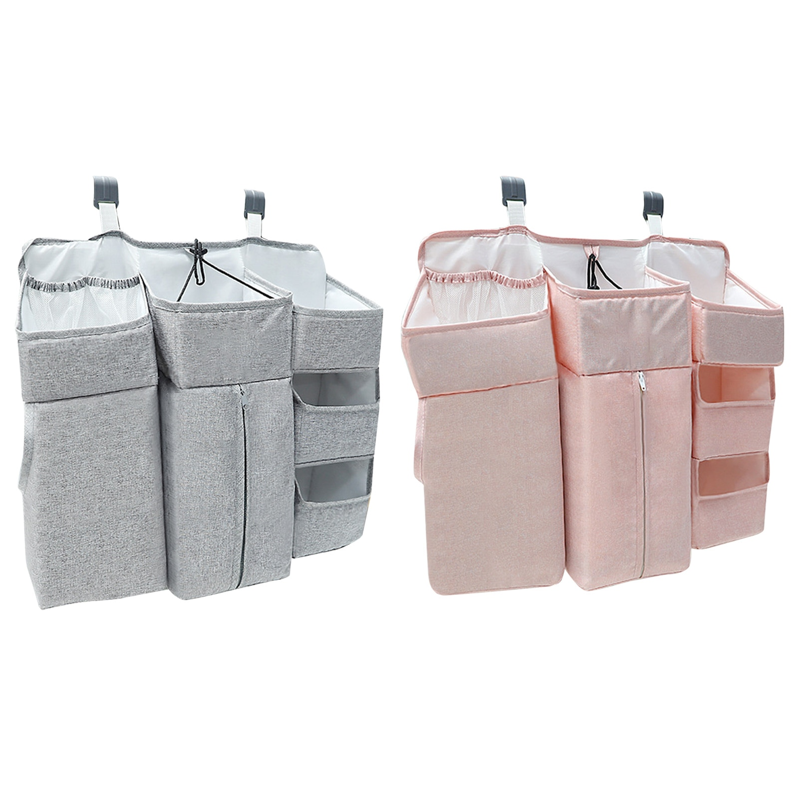 Portable Baby Crib Organizer Bed Hanging Bag For Baby Essential Thing Diaper Storage Bag Bedding Set