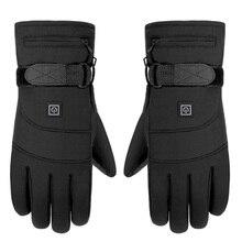 Gants de Moto imperméable à leau chauffée Guantes Moto Contact Sn batterie alimenté Moto course gants déquitation batterie dhiver
