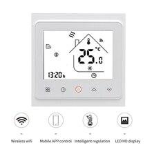 Thermostat Programmable de Circulation de contrôle dapplication de WiFi pour le système de chauffage par le sol avec lécho damazon, la maison de Google etc. MKBHT-002