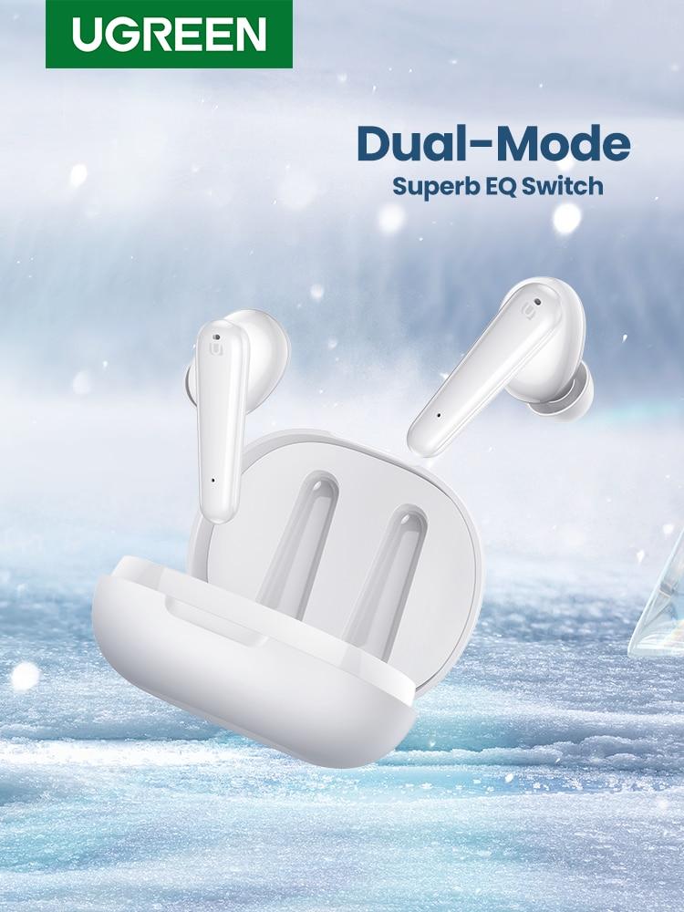 UGREEN HiTune T1 TWS True Wireless Earbuds 4 Mics Bluetooth Earphones ENC HiFi Stereo in-Ear Bass Up Mode USB-C Quick Charging