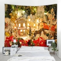 christmas tapestry beautiful christmas background wall mounted tapestry home decoration christmas gift tapestry various sizes