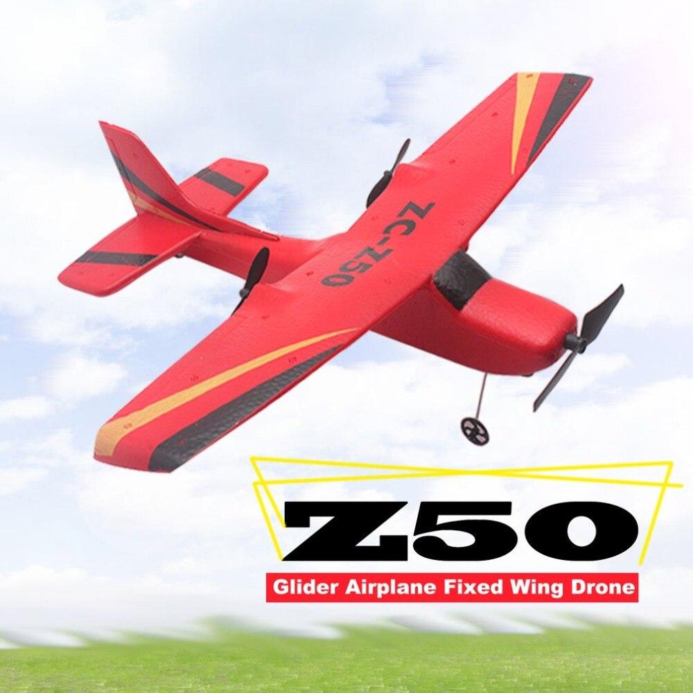 2019 Z50 2,4G 2CH 350mm Micro Wingspan Control remoto RC planeador avión Avión de ala fija EPP Drone con giroscopio integrado para niños