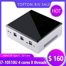 Yeni yayımlanan 10. nesil mini bilgisayar Intel i7-10510U i5-8250U 4 * Çekirdek 2 * DDR4 M.2 NVMe NUC bilgisayar Windows 10 Pro / Linux USB-C DP HDMI PC isteğe bağlı WiFi ve Bluetooth kurulumu