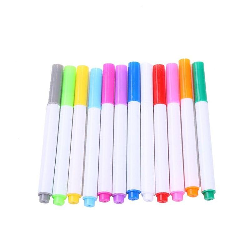 12 Pcs Farbe Löschbaren Flüssigkeit Kreide Stift Weiß Bord kunst Marker Stift Whiteboard Glas Keramik Schule kunst marker bunte