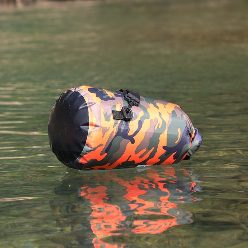 10l 20l translucent swimming waterproof bag storage dry bag swimming bag for canoe kayak rafting outdoor camping river trekking 20L/30L Camouflage Waterproof Outdoor Portable Rafting Diving River Trekking Sack PVC Coated Swimming Dry Bag