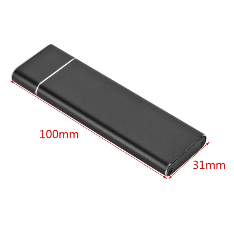 M.2NGFF SATA SSD to USB3.1 Type-C Mobile Hard Disk Box External Drive Enclosure Case For SSD 2230/2242/2260/2280 enlarge