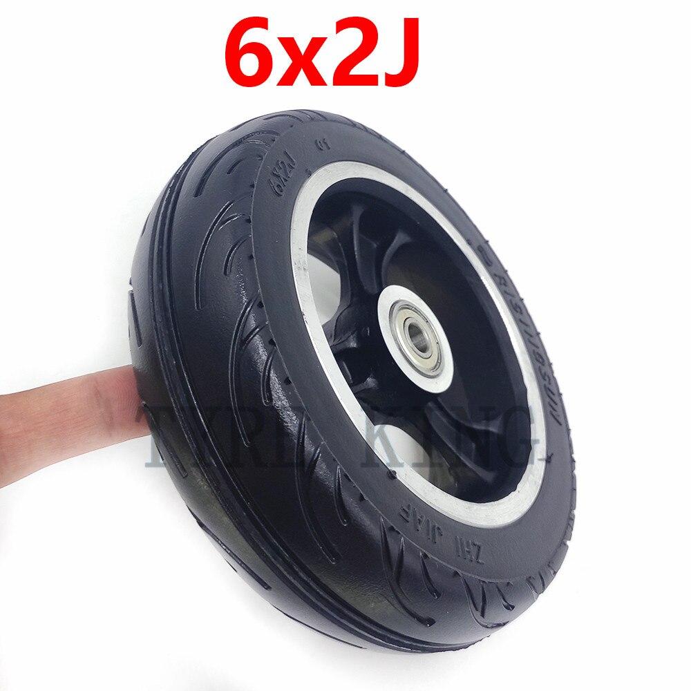 Neumático de rueda sólida de pulgada 6 a prueba de explosiones, neumático sólido 6x2 y borde de aleación para rueda rápida F0,jackhot, Scooter de fibra de carbono Nes