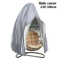 anti uv waterproof rattan swing patio garden weave hanging egg chair seat cover seat cover home hanging organizer