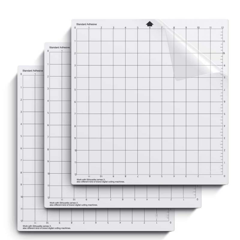 Replacement Cutting Mat Transparent Adhesive Mat with Measuring Grid 8*12/ 12*12 Inch for Silhouette Cameo Plotter Machin