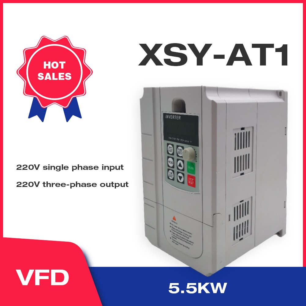 VFD التيار المتناوب 220 فولت 5.5KW محول تردد متغير 3 مراحل محول منظم السرعة موتور VFD العاكس دفع السفينة