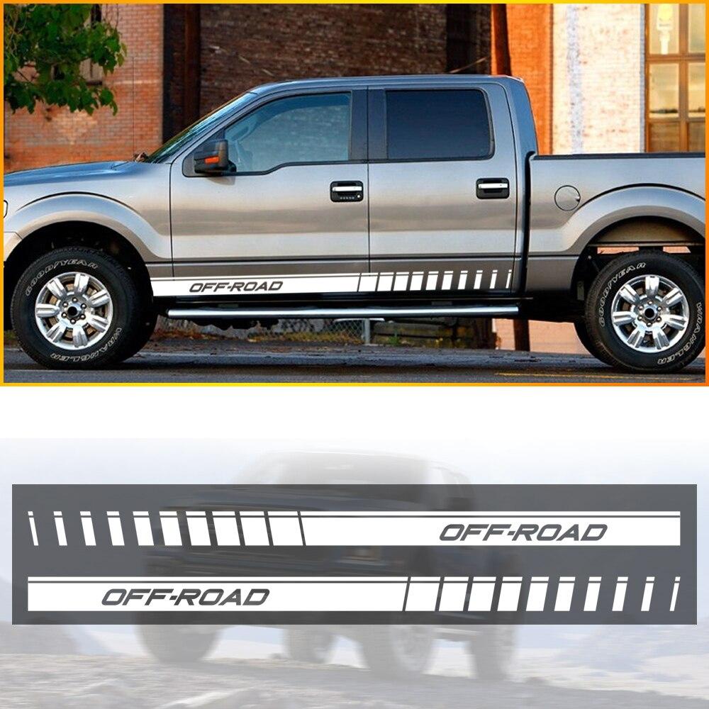 Pegatinas gráficas de rayas laterales para coche y camión, calcomanías para Nissan...