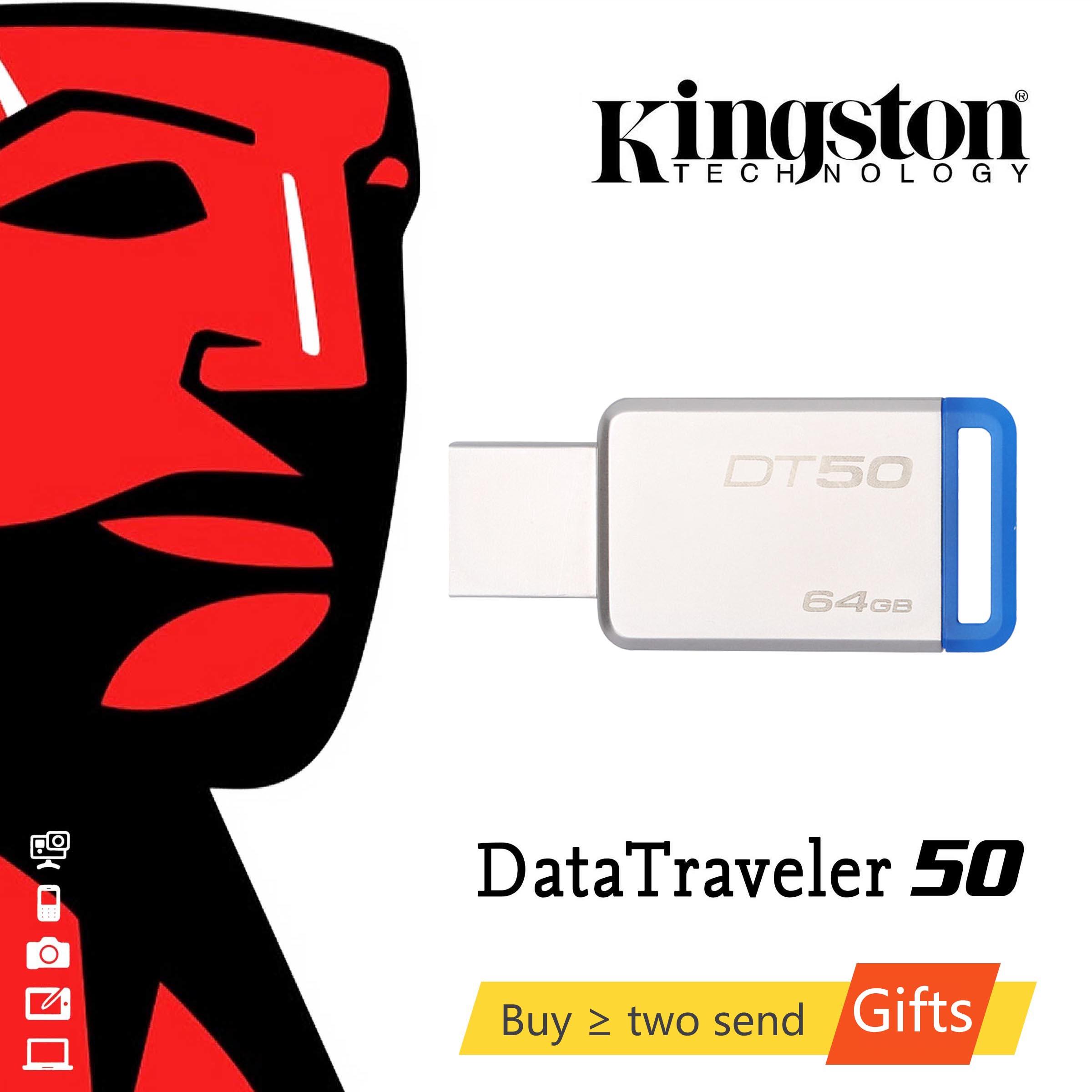 KINGSTON Stick 64GB USB 3,1 High Speed 16G USB Flash Drive 128GB/64GB/32GB/16GB/8GB Reale Kapazität 32G-Stick USB Stick 128G