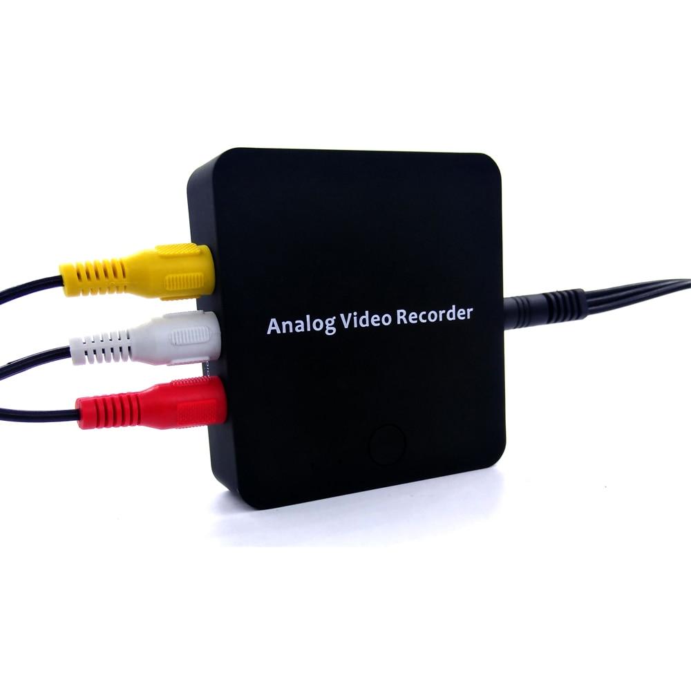 Gravador de conversor analógico 3rca av, converter todos os vhs de vídeo analógico, hi8, vcr, dvr, leitor de dvd para vídeo digital no cartão sd diretamente