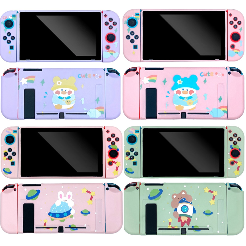 for nintendo ds console plastic replacement housing shell cover Soft TPU Housing Cover For Nintendo Switch Protective Cover Case For Nintendo Switch Console Cute Cartoon Shell NS Cover
