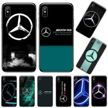 AMG Cool étui de téléphone de voiture de sport pour iPhone 11 12 pro XS MAX 8 7 6 6S Plus X 5S SE 2020 XR