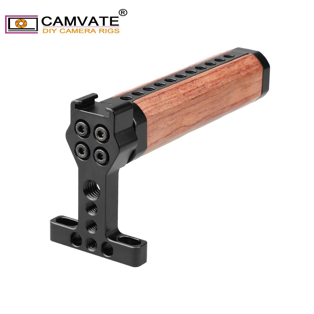 CAMVATE queso arriba de madera manija de agarre para GH5 5DMarkIII jaula C1721 Cámara accesorios de fotografía