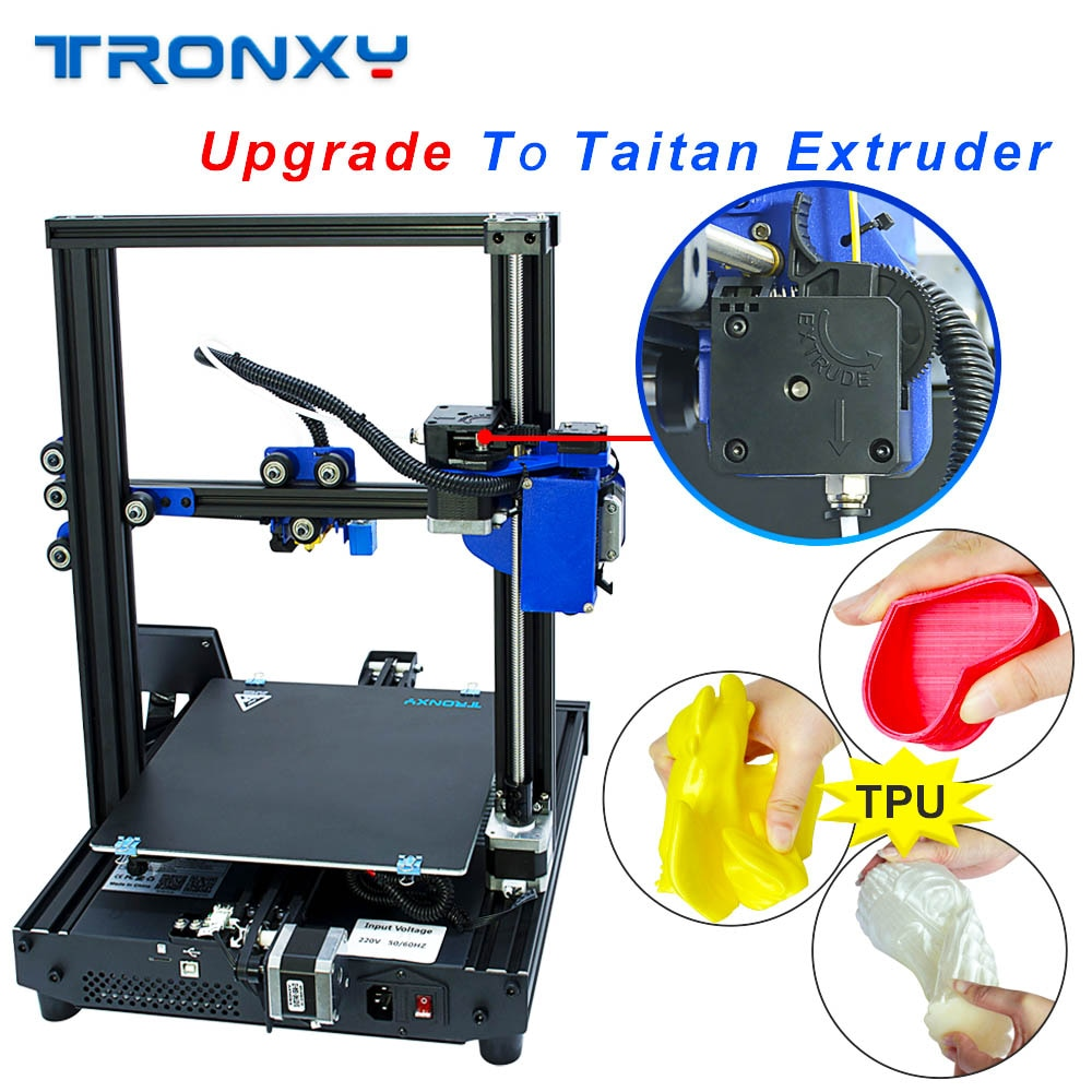 TRONXY 3D impresora XY-2 Pro actualizado calentamiento rápido Auto nivelación hoja de potencia de falla de impresión filamento se agota Detector Titan