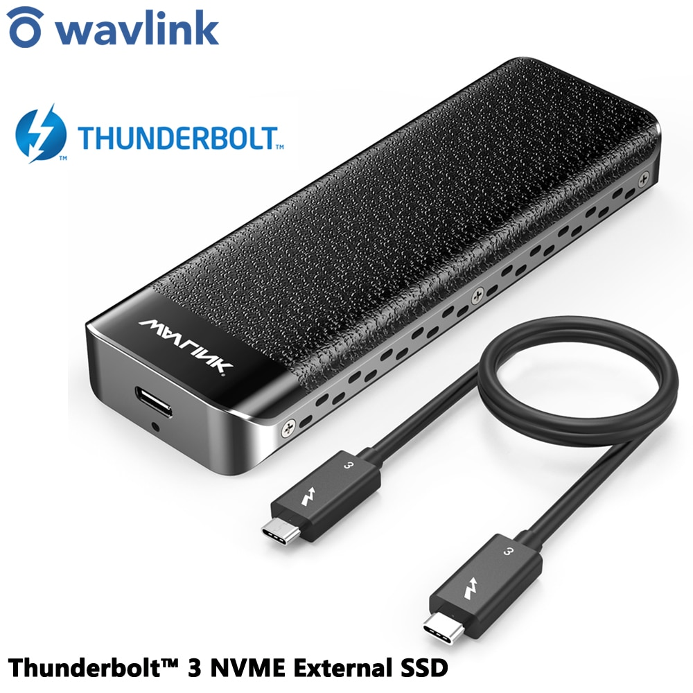 Intel Certified Thunderbolt™ 3 NVME External SSD Type C USB 3.1 Enclosure 40Gbps M-Key NVMe SSD Case Adapter External Hard Drive
