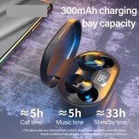tws earphone wireless bluetooth headphones ai control gaming headset stereo bass with mic noise reduction