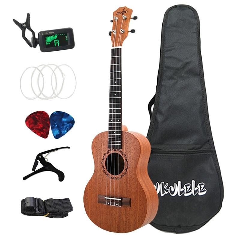 ELOS-26 Inch Ukelele Tenor Sapele Acoustic Guitaar Mini Hawaii Full Kits Ukulele Guitar for Beginner Kids