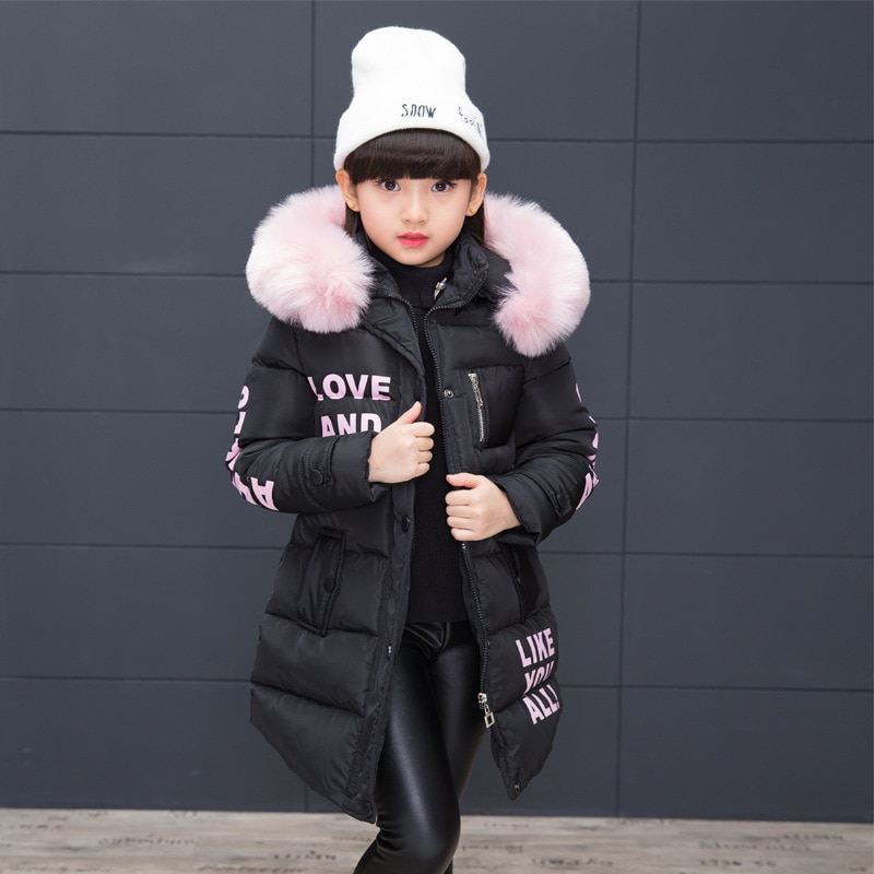 Girl Winter Jacket Children's Thicken Jacket Kids Cotton-padded Clothes Winter Jacket Girl Park Lively Winter Hoodie Coat Girls