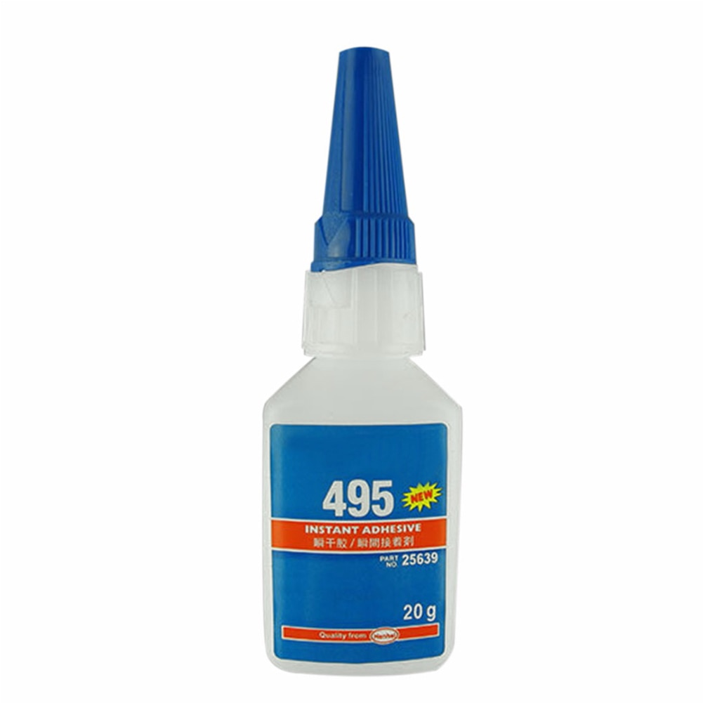 Super pegamento adhesivo instantáneo para oficina/escuela fuerte para plástico/pegamento líquido para botella de madera 20g 406/480/403/495